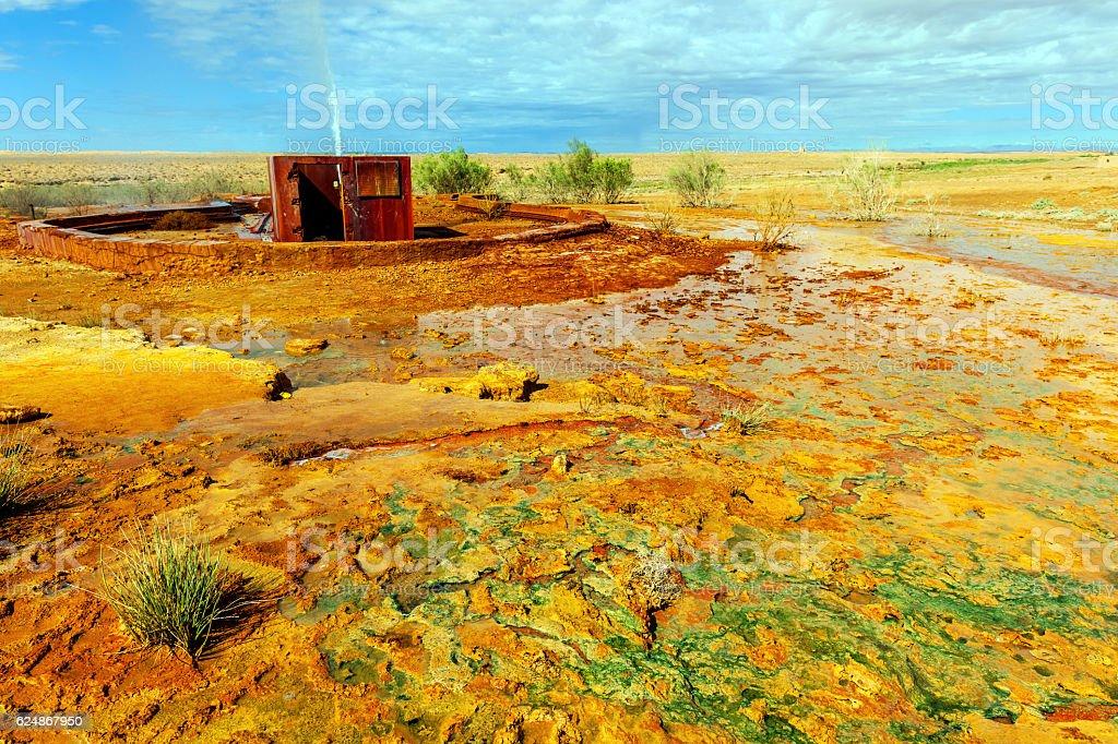 Beautiful Geyser Ain El Ati, Errachidia, Morocco, North Africa stock photo