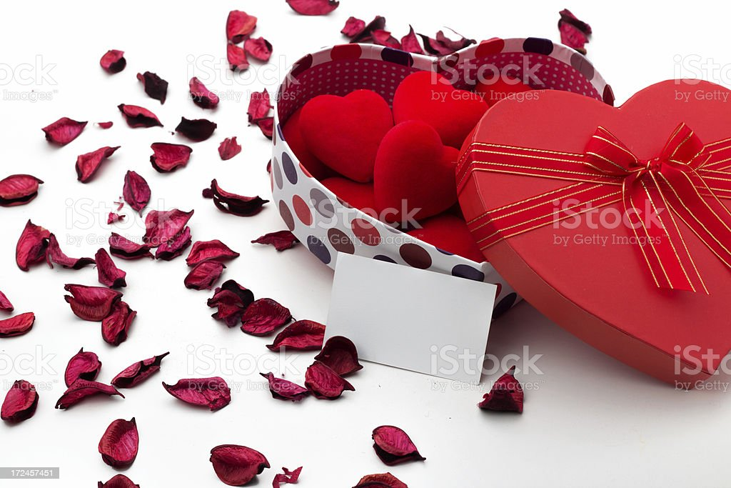 Beautiful gift box royalty-free stock photo