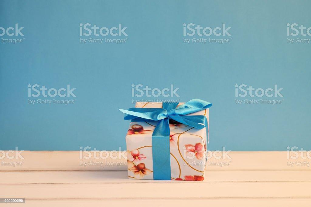 Beautiful gift box. stock photo
