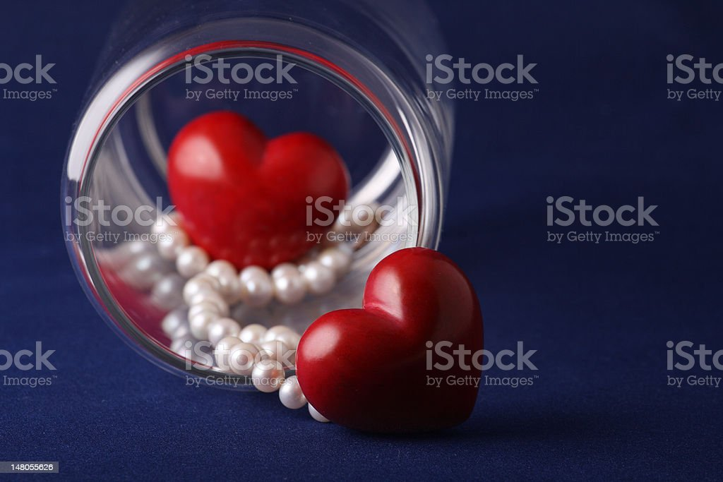 Beautiful gift by the Valentine's day royalty-free stock photo