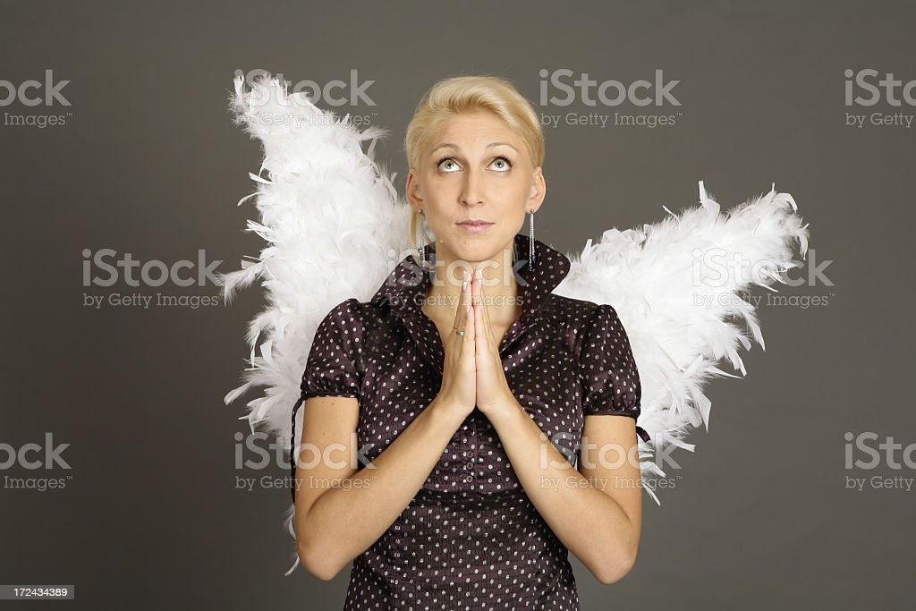 beautiful girl angel with wings royalty-free stock photo