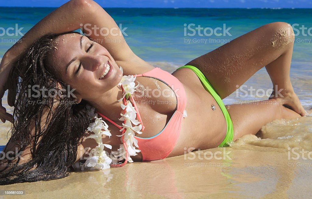 beautiful girl at the beach royalty-free stock photo