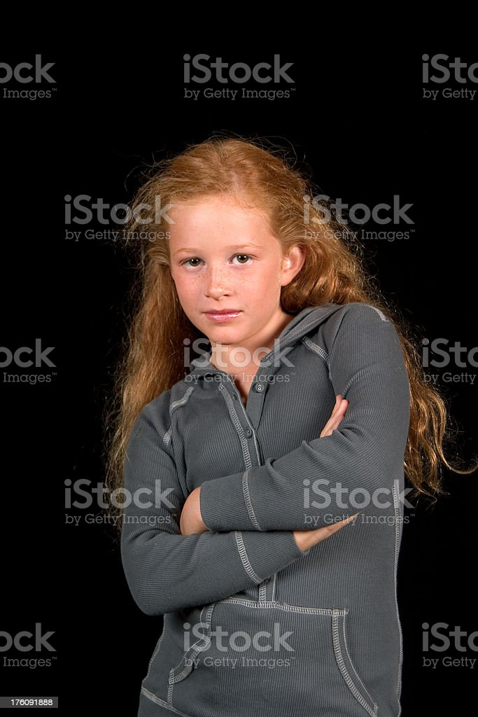 beautiful girl, child with red hairs royalty-free stock photo