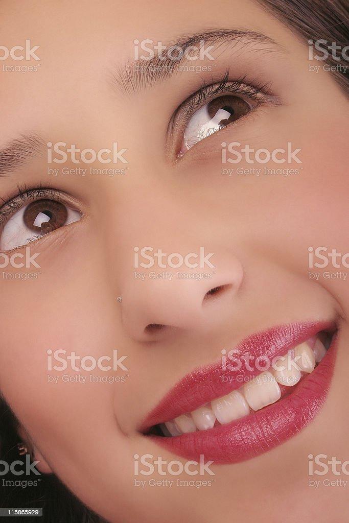 Beautiful girl closeup 3 royalty-free stock photo