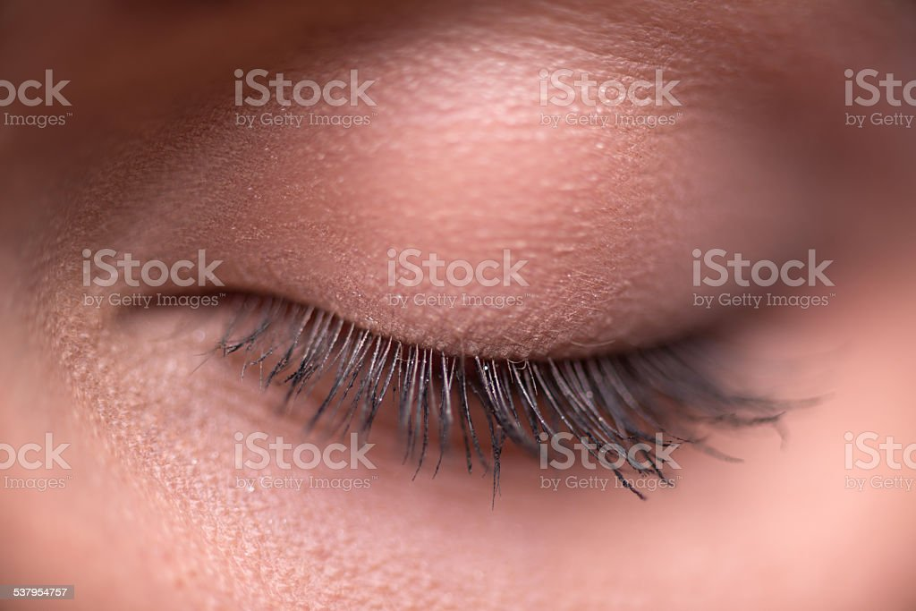 Beautiful  girl expresses  different emotions stock photo