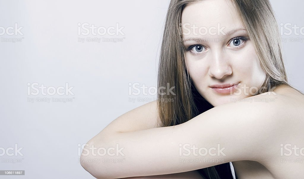 Beautiful Girl face. royalty-free stock photo