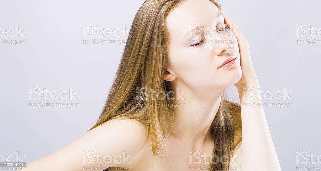 Beautiful Girl face. royalty-free stock photo