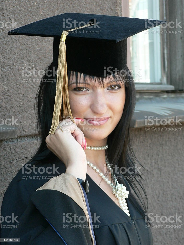 beautiful girl getting masters degree stock photo istock 1 credit