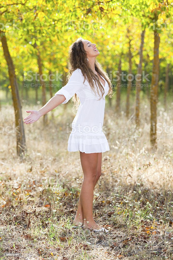 Beautiful Girl Having Relax Outside royalty-free stock photo