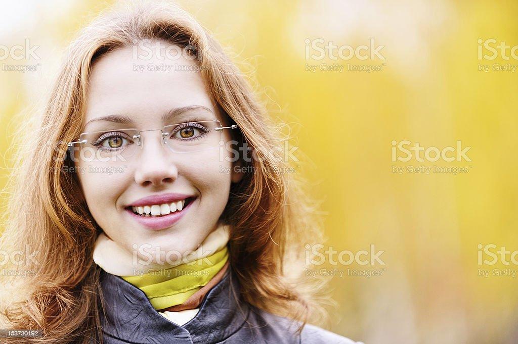Beautiful girl in autumn royalty-free stock photo