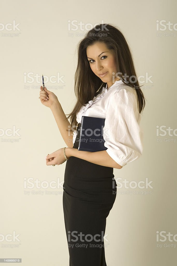 Beautiful girl in business outfit royalty-free stock photo
