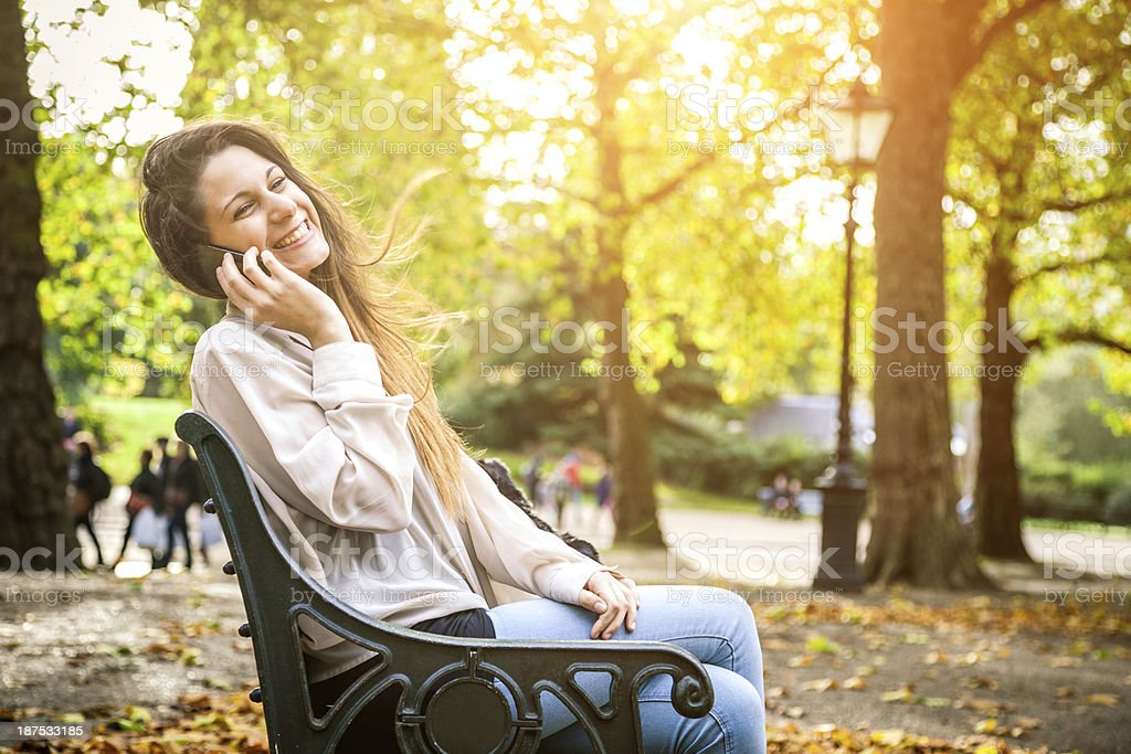 Beautiful girl in Hyde park London royalty-free stock photo