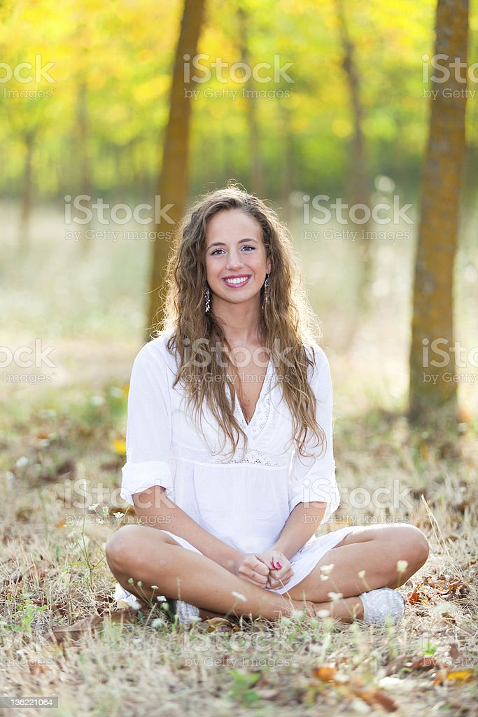 Beautiful Girl in Relax Outside royalty-free stock photo