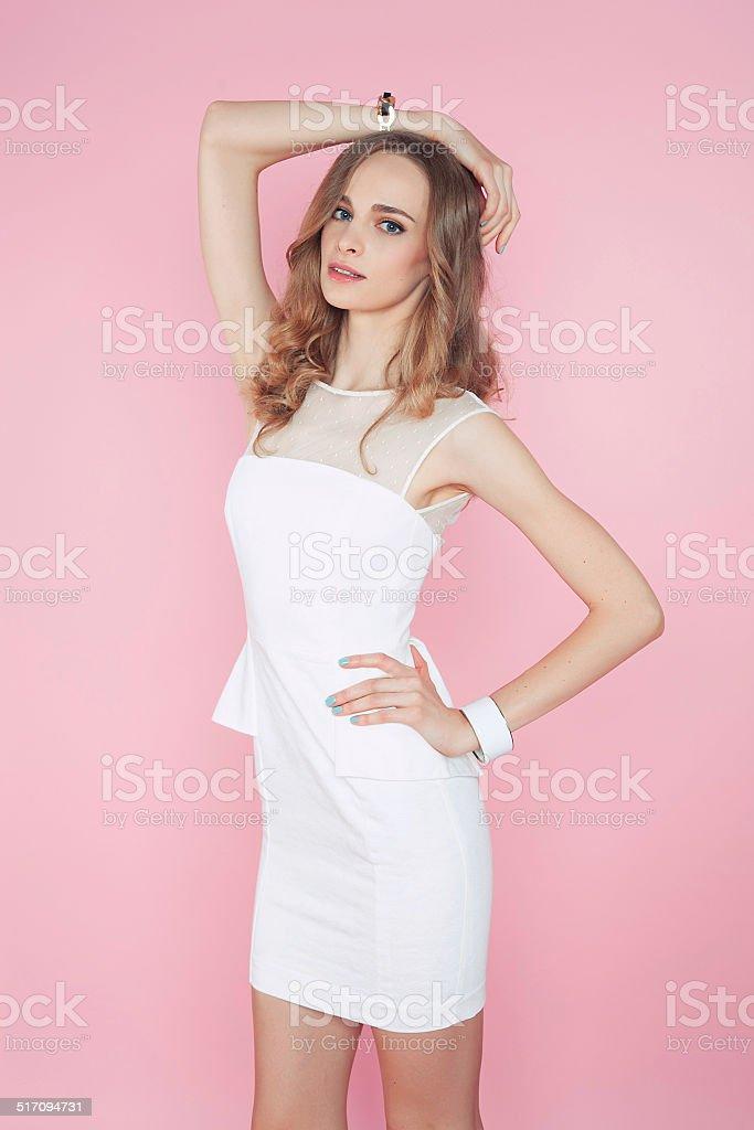 Девушка в бело розовом белье фото 151-873