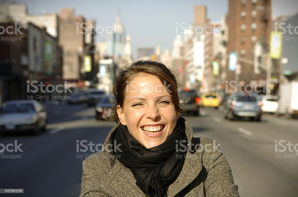 Beautiful girl laughing royalty-free stock photo
