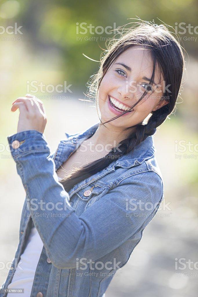 Beautiful Girl Laughing stock photo