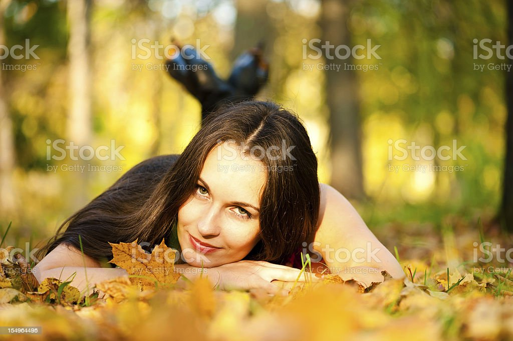 beautiful girl lying royalty-free stock photo