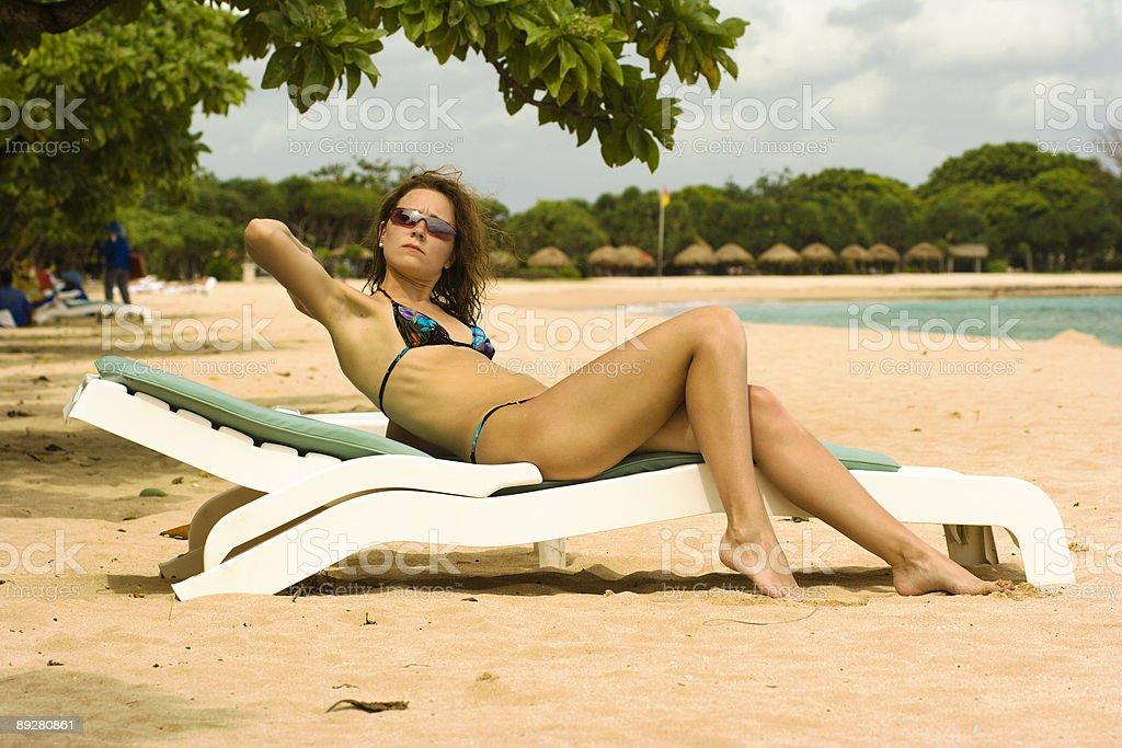 Beautiful girl on a beach royalty-free stock photo