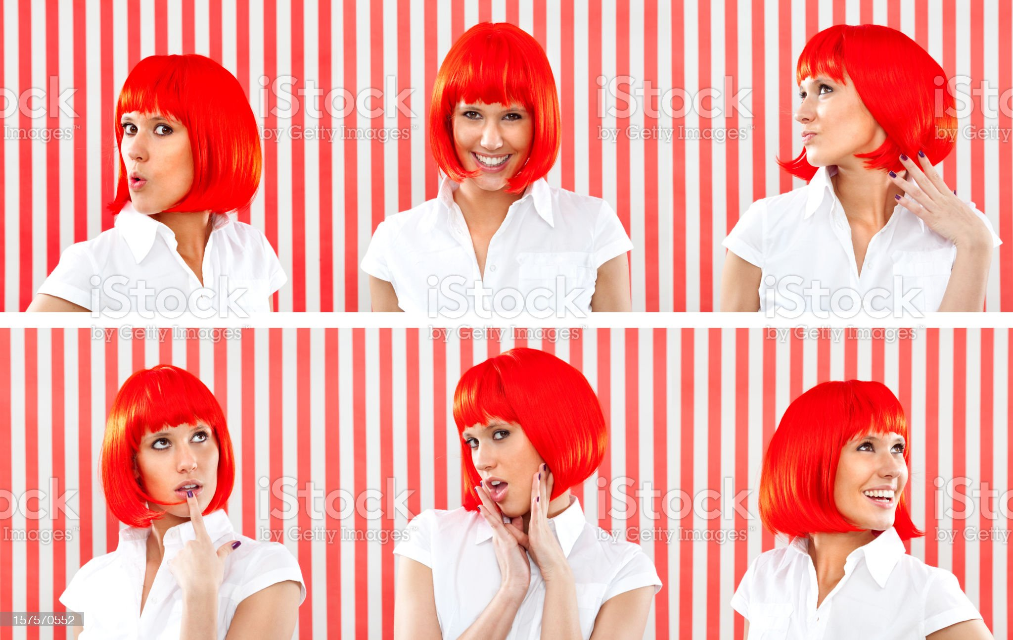 Beautiful girl red portait composition royalty-free stock photo
