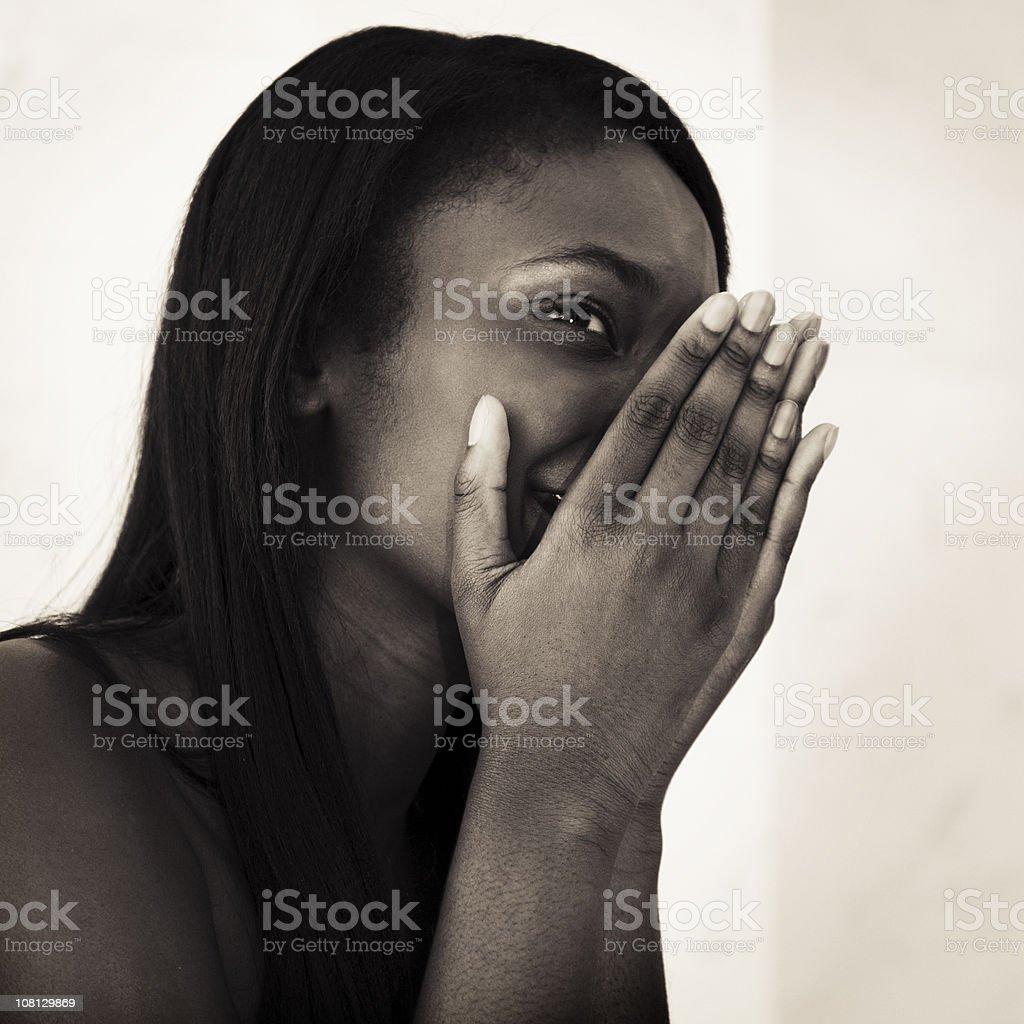 Beautiful Girl Shy Look royalty-free stock photo