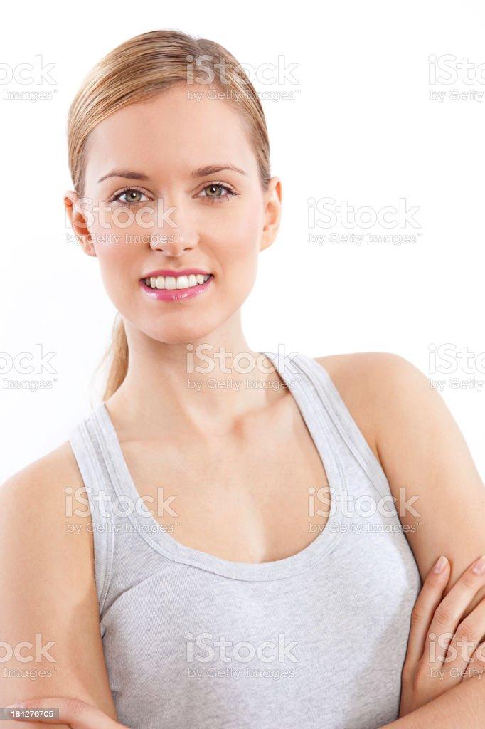 Beautiful girl smiling royalty-free stock photo