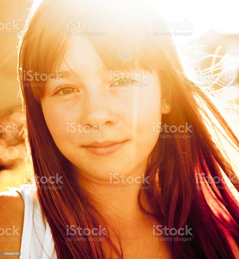 Beautiful Girl: Warm Hues royalty-free stock photo