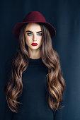 Beautiful girl wearing hat