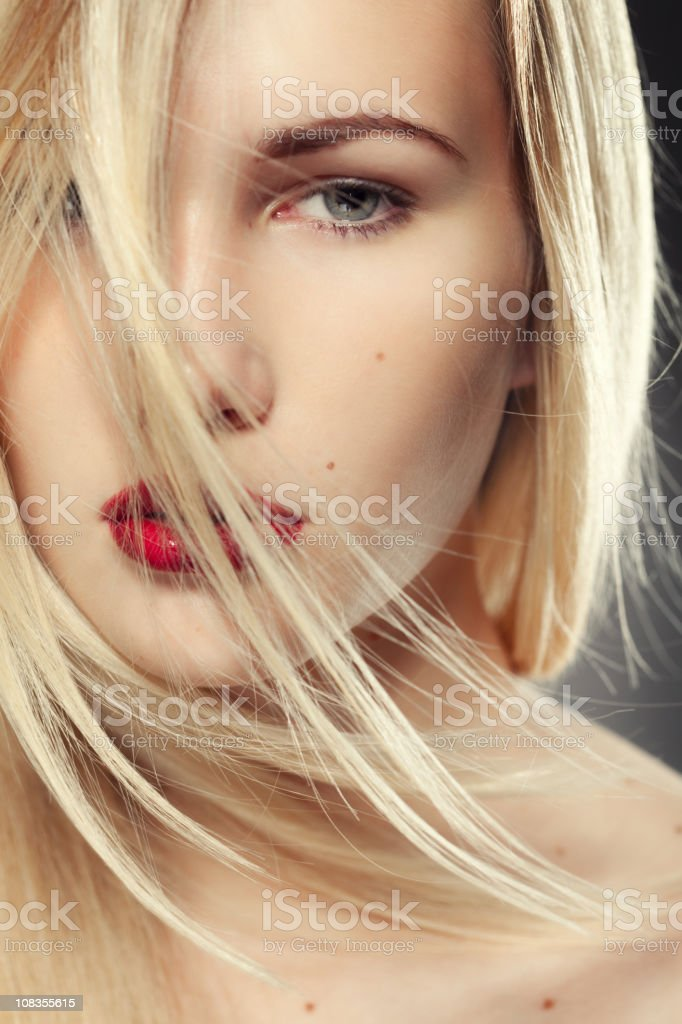 Beautiful girl with bright makeup royalty-free stock photo