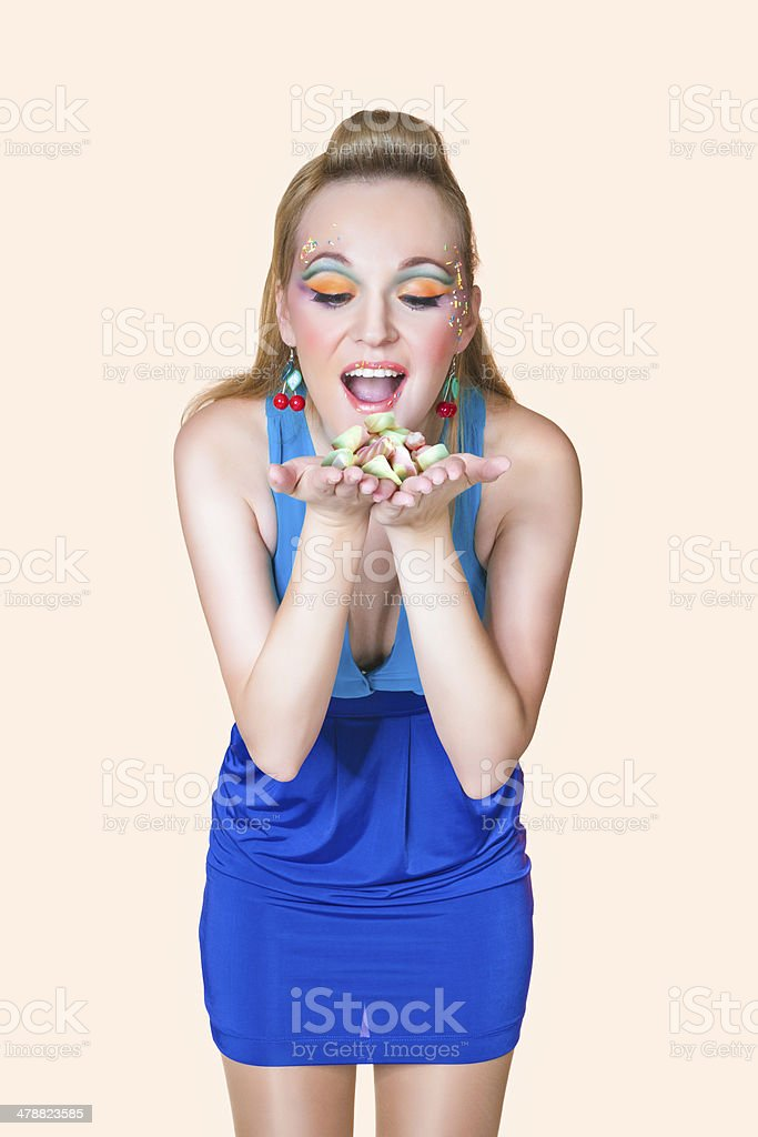 beautiful girl with candy royalty-free stock photo
