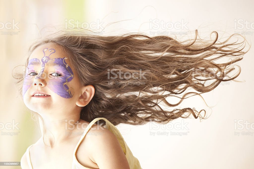 Beautiful girl with fantastic hair royalty-free stock photo