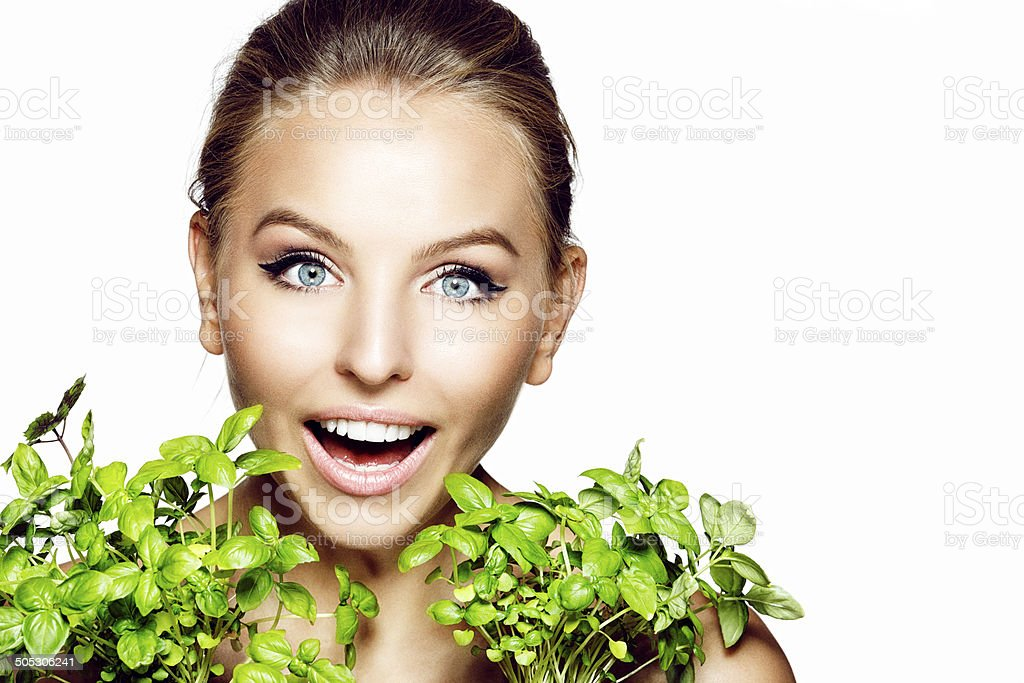 Beautiful girl with flower royalty-free stock photo