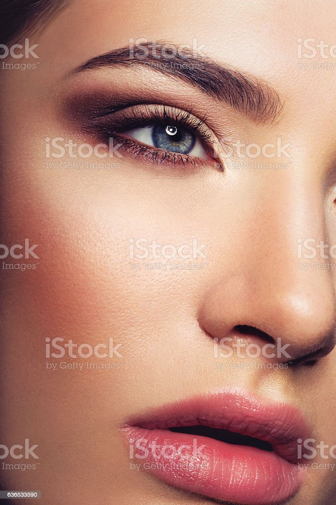 Beautiful girl with make-up stock photo
