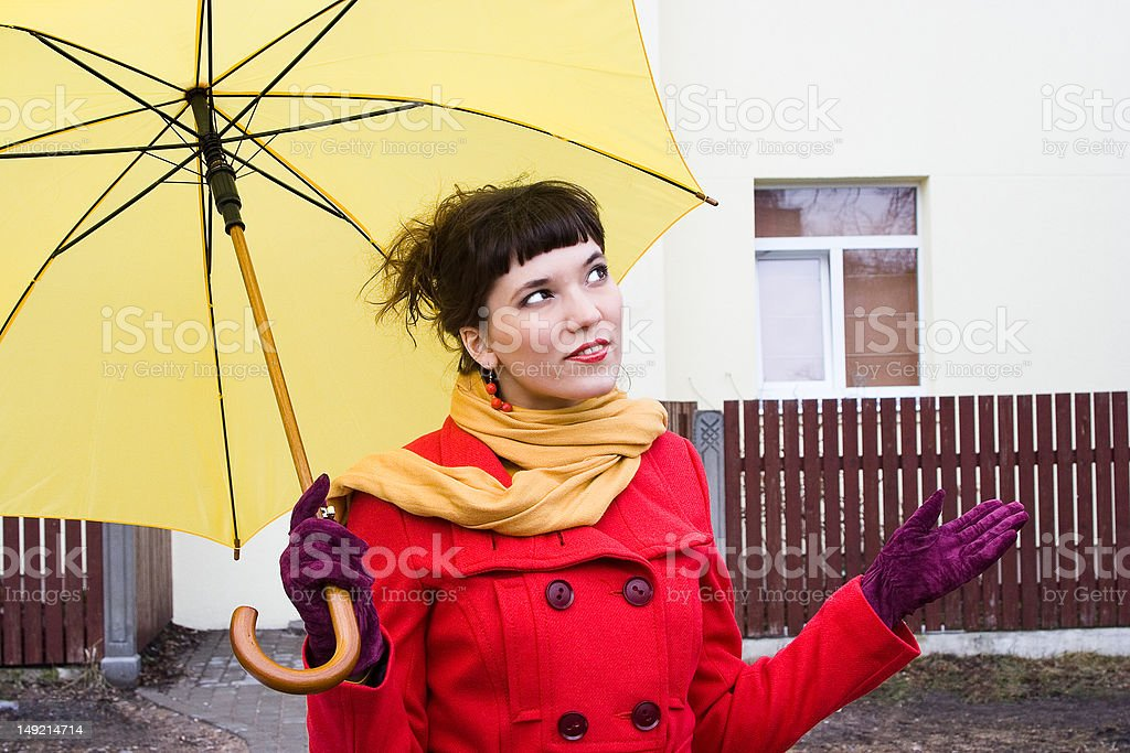 beautiful girl with umbrella royalty-free stock photo
