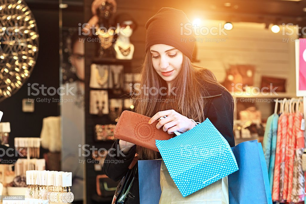 Beautiful Girls in a Jewellery Boutique stock photo