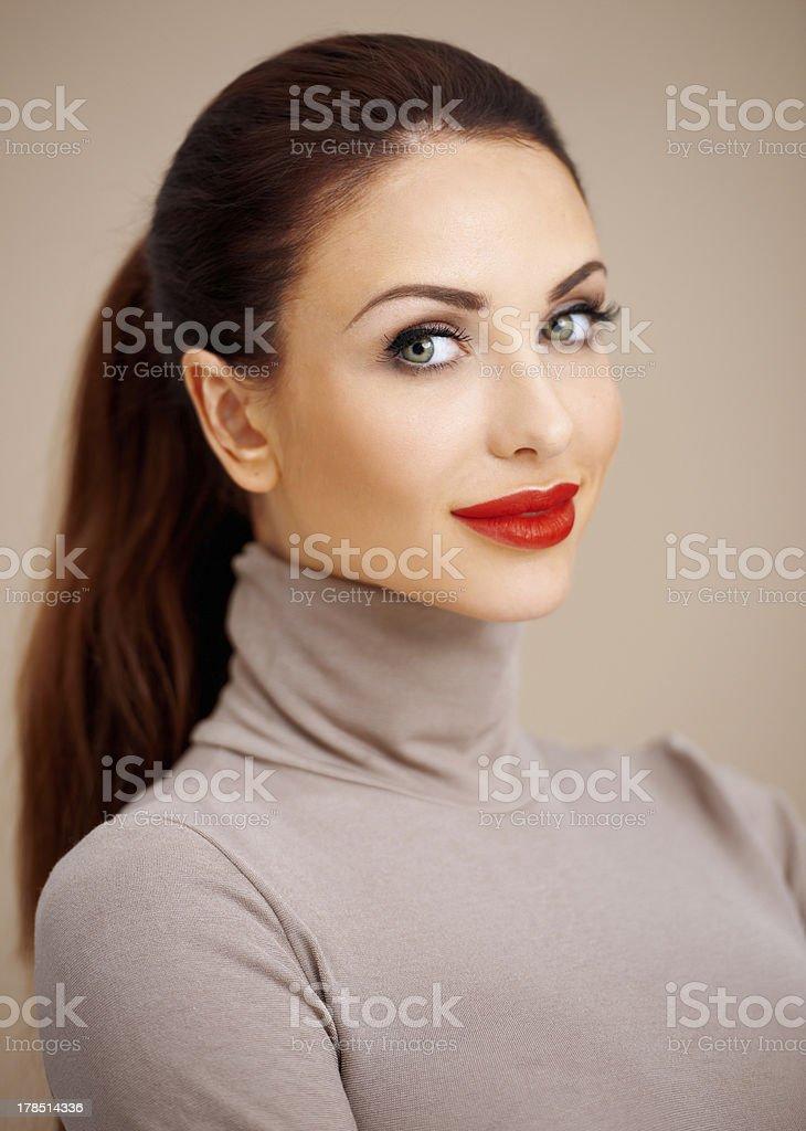 Beautiful glamorous young woman royalty-free stock photo