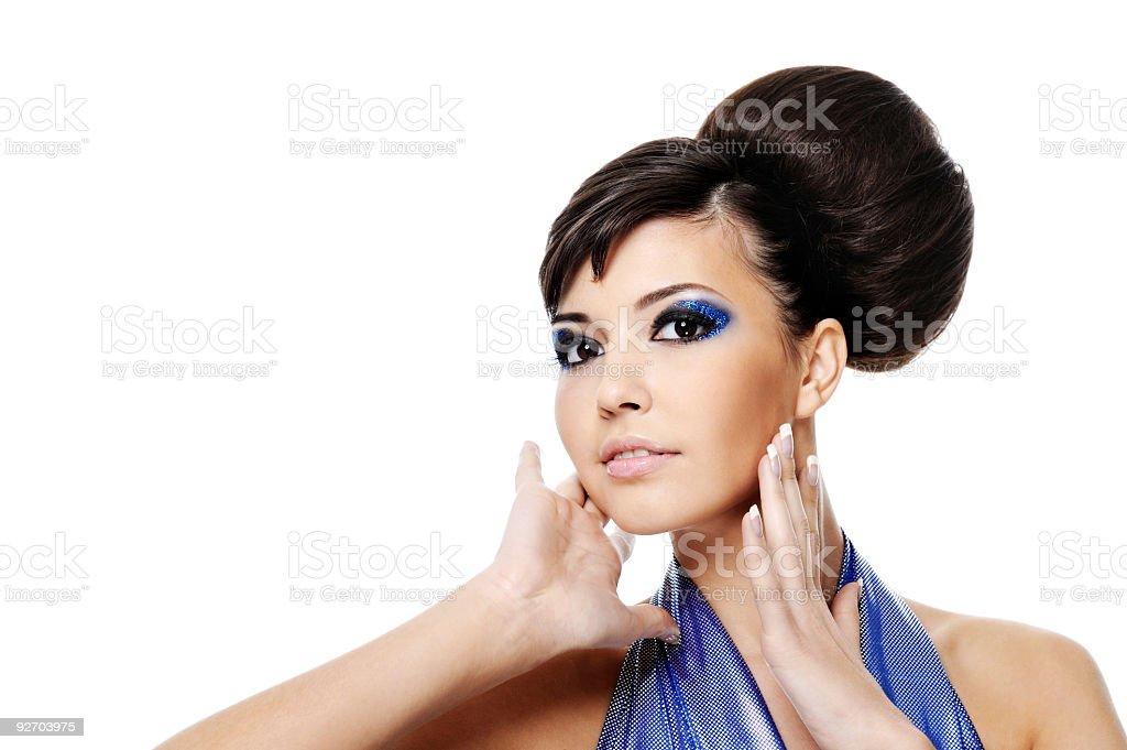 Beautiful glamour woman royalty-free stock photo