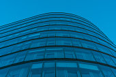 beautiful glass facade at finance building at berlin