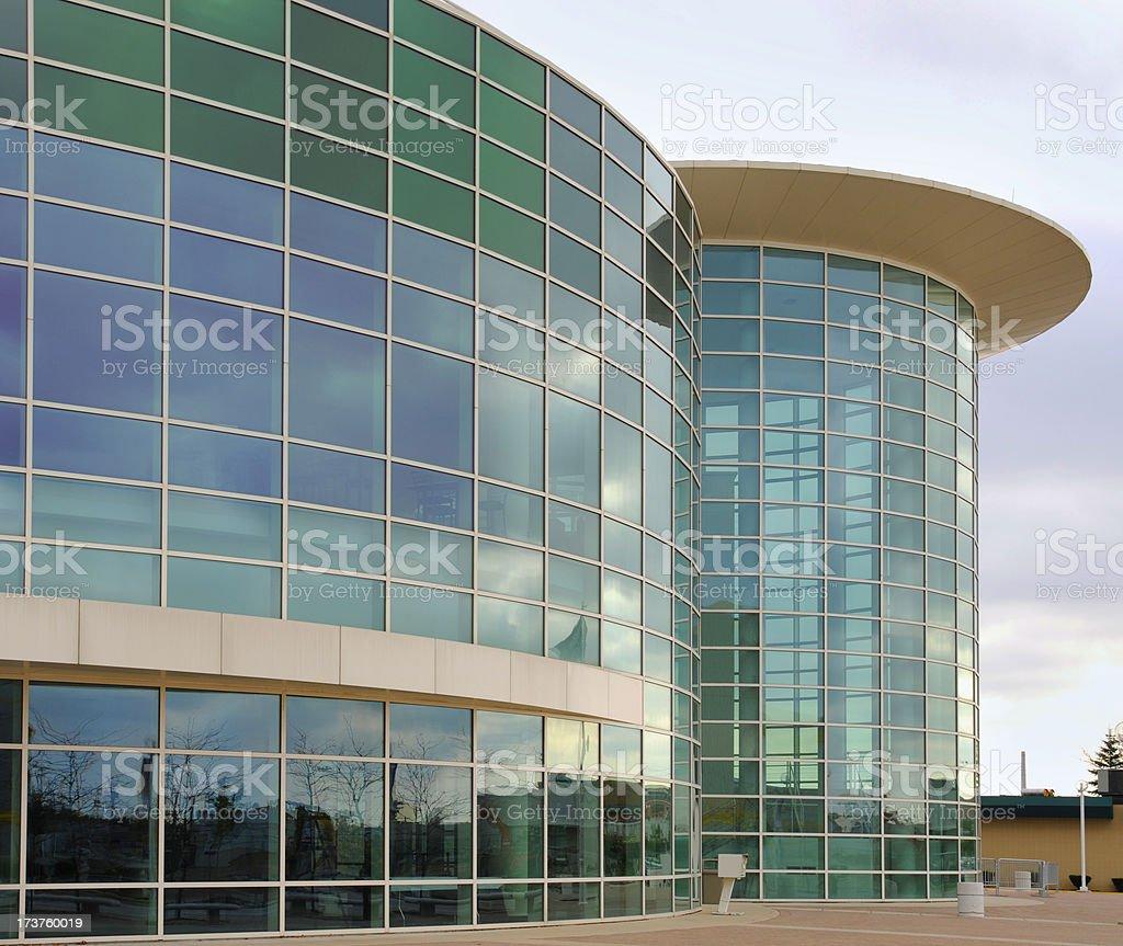 Beautiful Glass Walled Architecture stock photo