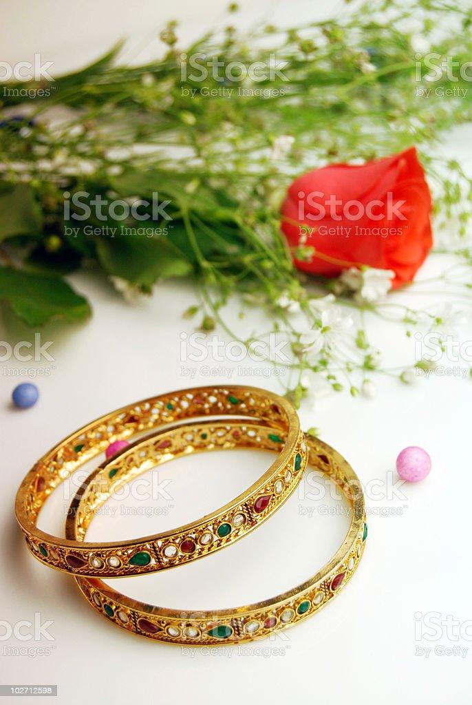 Beautiful Gold Bangles!!! stock photo