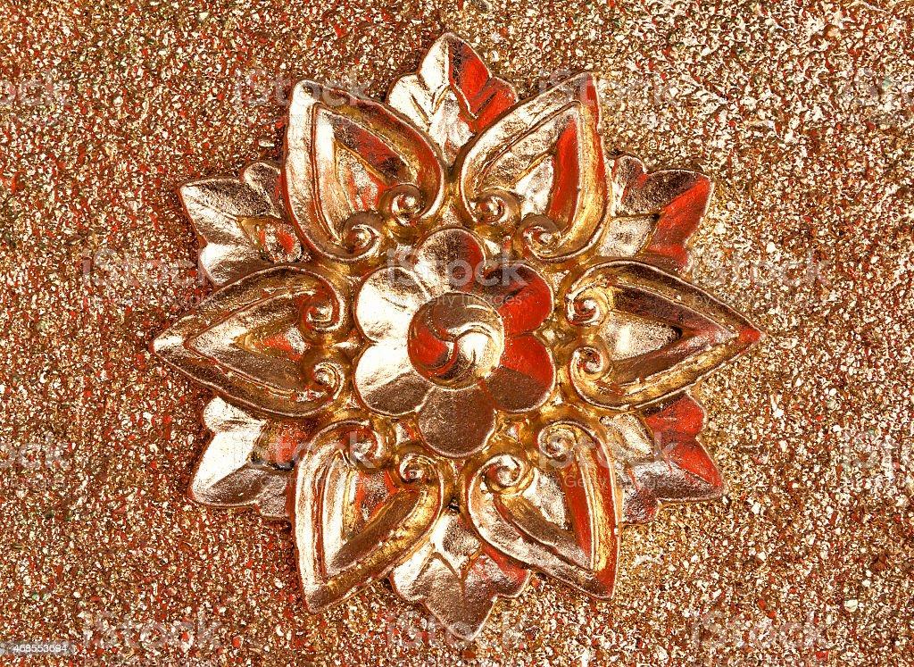 Beautiful golden flower royalty-free stock photo