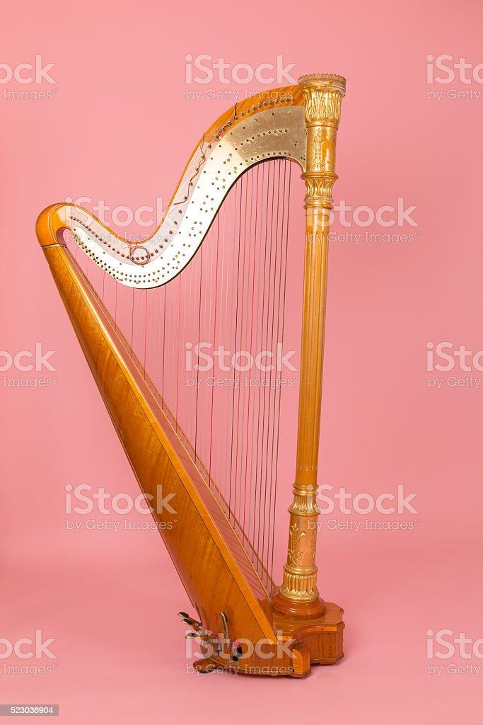 beautiful golden harp stock photo