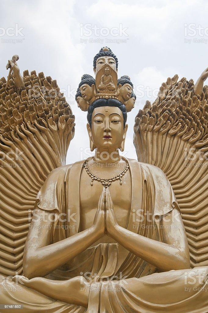 Beautiful golden statue stock photo