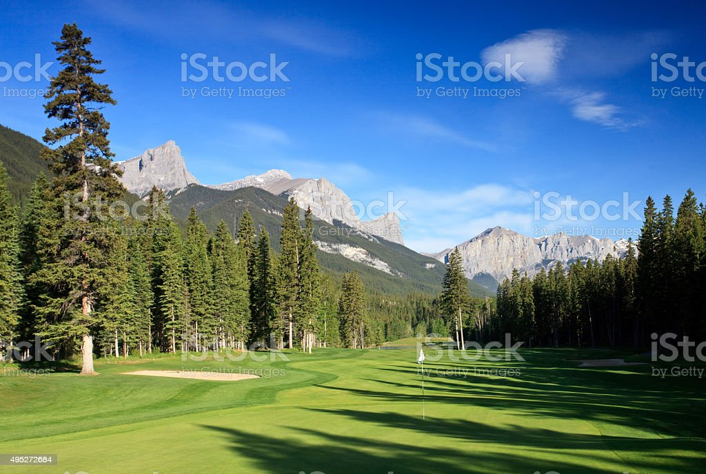 Beautiful Golf Course in Summer stock photo