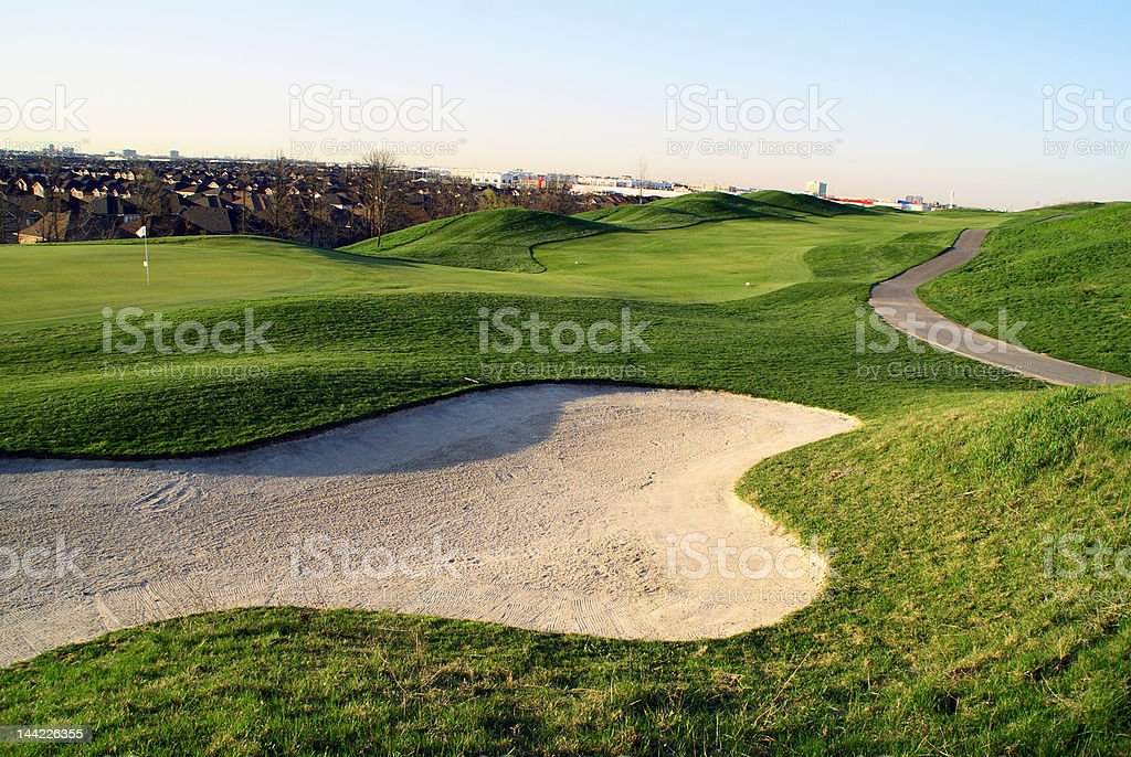 beautiful golf course located in canada royalty-free stock photo