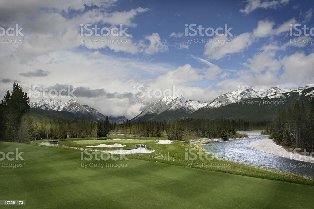 Beautiful Golf Course stock photo