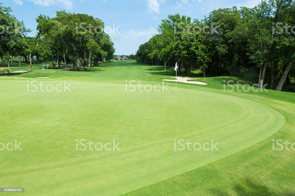 Beautiful golf course stock photo