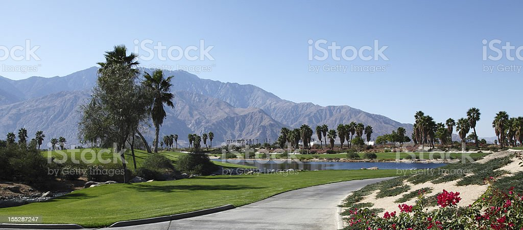 Beautiful Golf Course Stunning View. royalty-free stock photo