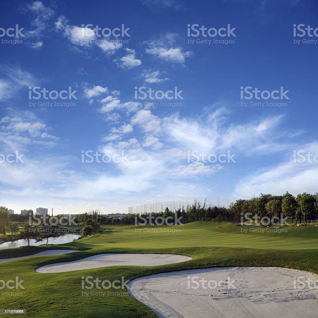 Beautiful Golf Course - XXLarge royalty-free stock photo