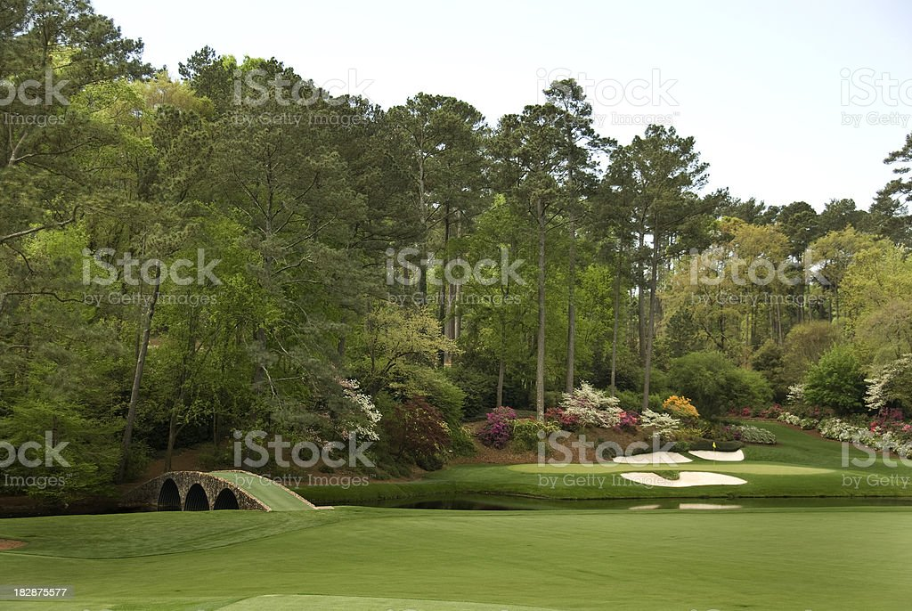 Beautiful Golf Courses stock photo