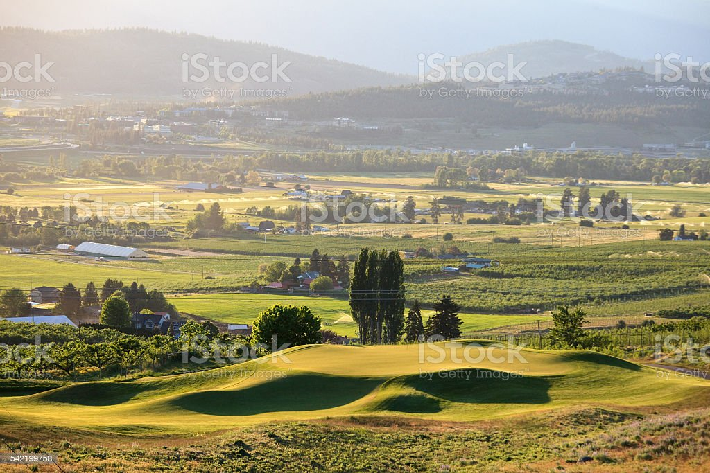 Beautiful Golf Green in Thompson Okanagan stock photo